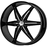 "Helo HE866 Gloss Black Wheel With Removable Chrome Accents (22x9.5""/5x114.3, 127mm, +35mm offset)"