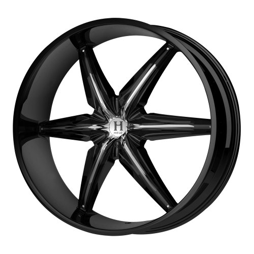 Helo HE866 Gloss Black Wheel with Chrome Accents - (24x9.5