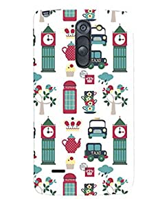 Fuson Premium Taxi Tower Printed Hard Plastic Back Case Cover for LG G3 Stylus D690