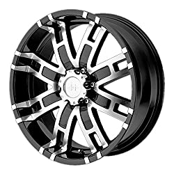 Helo HE835 Gloss Black Wheel With Machined Face (17×8″/6×139.7mm, 0mm offset)