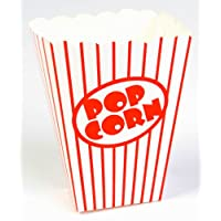 Unique Industries Set of 8 Classic Red and White Striped Popcorn Boxes