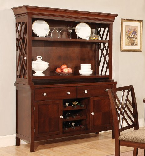 The Simple Stores Ester Dining Room China Cabinet with Wine Storage
