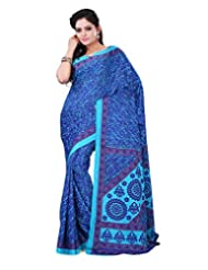 Surat Tex Sky Blue & Blue Crepe Daily Wear Printed Sarees With Blouse Piece-E587SE1005ASP