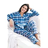 Jessica London Plus Size Petite Plaid flannel pjs Dreams & Co