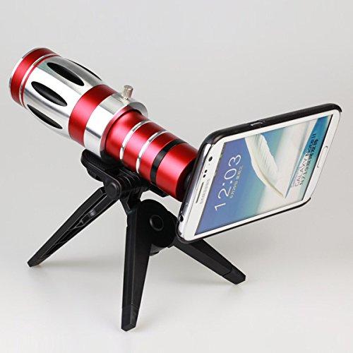 Giftsbox 20X Telescope Camera Lens Aluminum Mobile Phone Telephoto Lens For Samsung Note 2 N7100