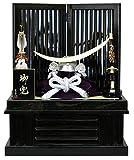 豊秀作 五月人形 兜収納飾り  シルバー伊達政宗兜 黒塗校倉収納