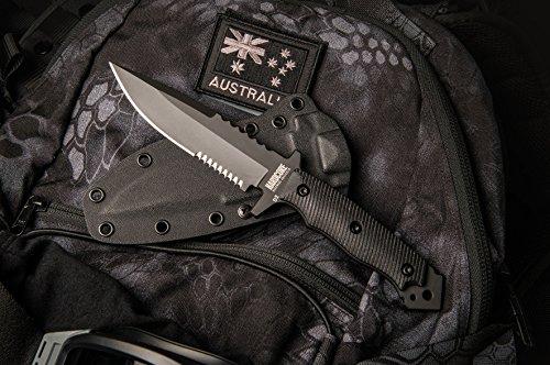 Hardcore Hardware Australia Mfk-04G2 Generation 2 Tactical Fighting Survival Knife Black G-10 Kydex Sheath