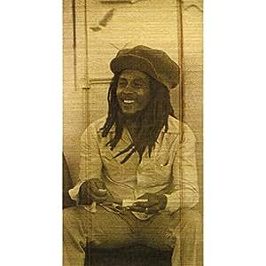 Bob Marley Rasta Reggae Concert Bamboo Window Roll Shade Blind Curtain