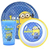 Despicable Me Minions '1 In A Minion' 3-Piece Dinner Set | Mealtime | Dinnerware