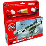 Airfix A55106 Messerschmitt Bf109E 1:72 Scale Model Small Starter Set