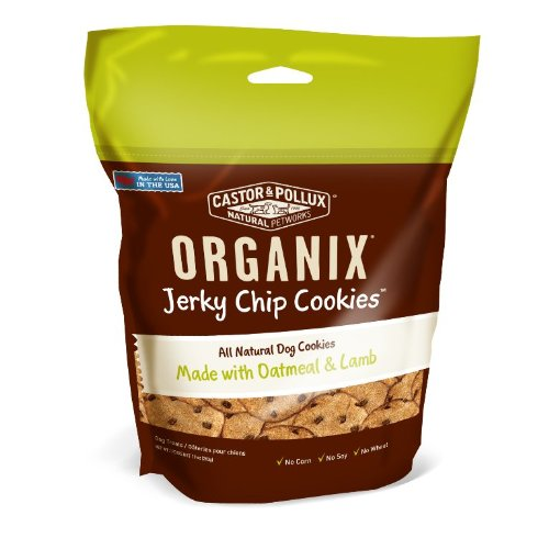 Organix Jerky Chip Oatmeal Cookies Pet Treats, Lamb