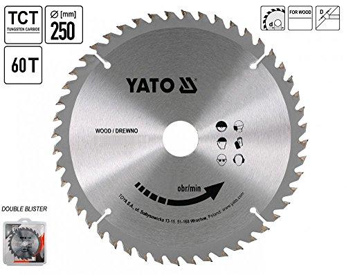 Yato-Profi-TCT-Kreissgeblatt-250-mm-60-Zhne-30-Bohrung-yt-6072