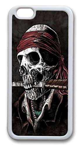 Undead Pirate TPU Case Cover for iPhone 6 4.7 inch White