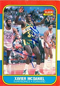 Xavier McDaniel Autographed Hand Signed Basketball Card (Seattle Sonics) 1996 Fleer... by Hall of Fame Memorabilia