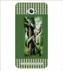 PrintDhaba Fantasy Girl D-3574 Back Case Cover for ASUS ZENFONE MAX ZC550KL (Multi-Coloured)