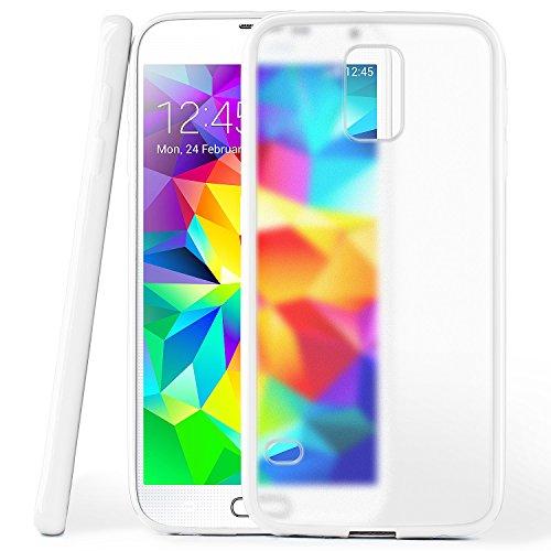 Cover di protezione Samsung Galaxy S5 Mini Custodia Case silicone sottile 1,5mm TPU | Accessori Cover cellulare protezione | Custodia cellulare Paraurti Cover Traslucida Trasparente SHINY-WHITE