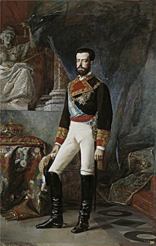The Polyster Canvas Of Oil Painting 'Palmaroli Y Gonzalez Vicente Amadeo I Rey De Espana 1872 ' ,size: 20 X 32 Inch / 51 X 80 Cm ,this Replica Art DecorativeCanvas Prints Is Fit For Foyer Decor And Home Decoration And Gifts
