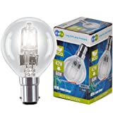 4 x Eco Halogen Energy Saving Mini Golf Balls Globes 42W = 60w B15 SBC Small Bayonet Cap Classic Clear Round, Dimmable Light Bulbs Lamps, G45 Mains 240V