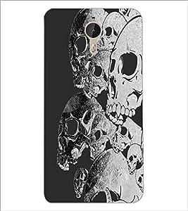 PrintDhaba Skulls D-2096 Back Case Cover for LETV (LE ECO) LE 1 PRO (Multi-Coloured)
