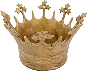 HomArt Queen's Crown, Cast Iron Crown, Gold