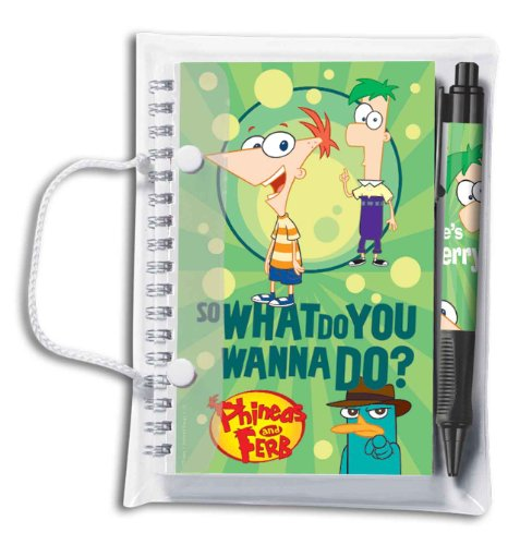 Phineas & Ferb Spiral Notebook & Pen Set (1051A) - 1