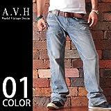 (エーブイエイチ) AVH BLACKLABEL メンズ デニムパンツ ストレートデニムパンツ