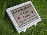 Personalised Granite Memorial Grave Plaque Any Wording
