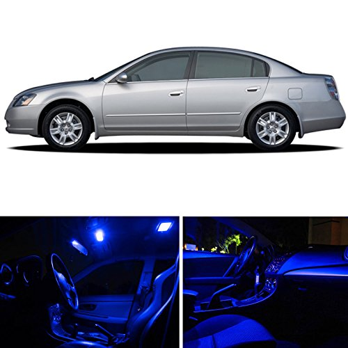 Nissan Altima 2002-2006 Blue Premium Led Interior Lights Package Kit (8 Pieces)