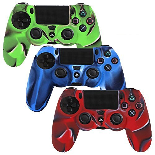 Awardpedia generic 3 pack combo protective silicone case for Housse manette ps4