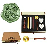MNYR Retro Santa Claus Northpole Official Wax Seal Stamp Embellishment Wedding Invitation Card Mail Gift Wrap Wine Package Wood Handle Melting Spoon Sealing Wax Stick Box Christmas Wax Seal Stamp Set (Color: Gift Box Kit 1)