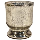 GolMaalShop Glass Candle Holder Slim (4.4 X 11.4 Inches, Silver) - B00VEA2LNO