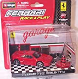 Race and play red ferrari F355 berlinetta garage scene set 1.43 scale diecast model
