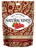 Natural Vines Strawberry Licorice, 8-Ounce Bags (Pack of 6)