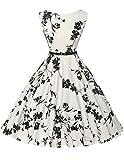 Classic Hepburn Style Party Cocktail Dresses Floral Printed Plus Size 2XL