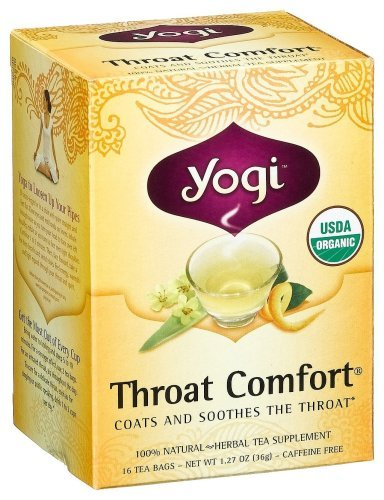 Yogi Herbal Tea, Throat Comfort, 16 tea bags (Pack of 3)
