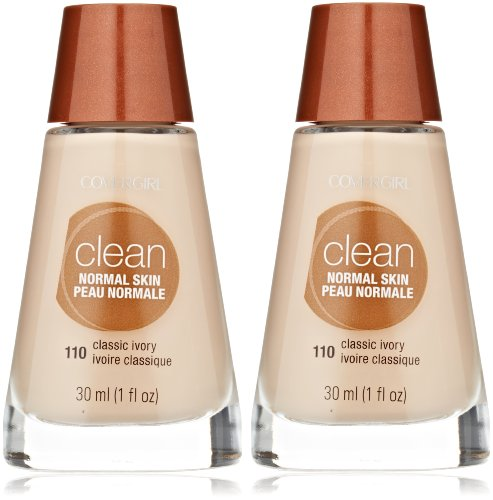 CoverGirl Clean Liquid Makeup, Classic Ivory (W) 110, 1.0-Ounce Bottles (Pack of 2)