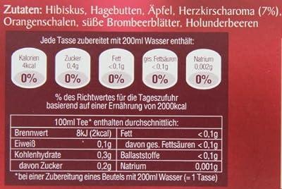 Teekanne Herzkirsche, 3er Pack (3 x 20 Teebeutel) von Teekanne auf Gewürze Shop