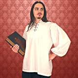 Late Renaissance Shirt - WHITE - Small (Period Clothing)