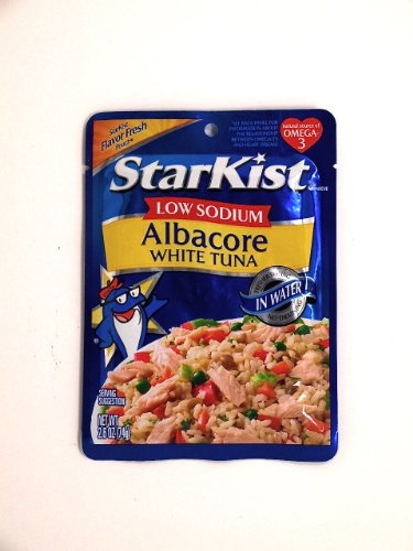 Starkist Low Sodium Albacore White Tuna In Water Pouch 2.6 Oz (Pack Of 6)
