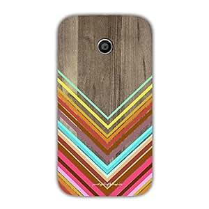 Designer Phone Covers - Moto E-zigzag-pattern-