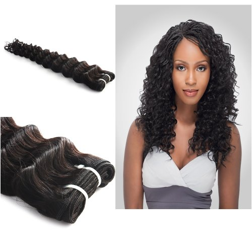 "Yesurprise Top Quality 22"" Brazilian Hair Extension Deep Wave Wavy Curly Long Remy Human Hair Weft"