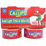 Italian Canned Tuna in Olive Oil Callipo 5.6 Oz (Pack of 4)
