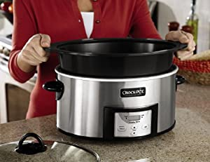 Crock-Pot SCCPVI600-S Countdown Slow Cooker with Stove-Top Browning, Stainless Finish, 6-Quart from Jarden Consumer Solutions
