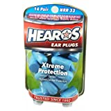 HEAROS Xtreme Protection Noise Cancelling Disposable Foam Earplugs NRR 33 Hearing Protection (Color: blue, Tamaño: 14 Pair)