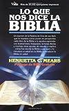 Que nos dice la Bíblia, Lo (082970485X) by Mears, Henrietta C.