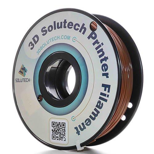 3D Solutech Chocolate Brown 1.75mm PLA 3D Printer Filament 1.1 LBS (0.5KG) - 100% USA