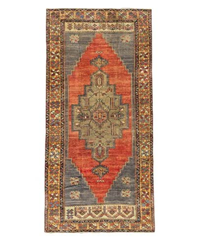Hand-Knotted Anatolian Rug, Dark Copper/Dark Navy, 5' 3 x 11'