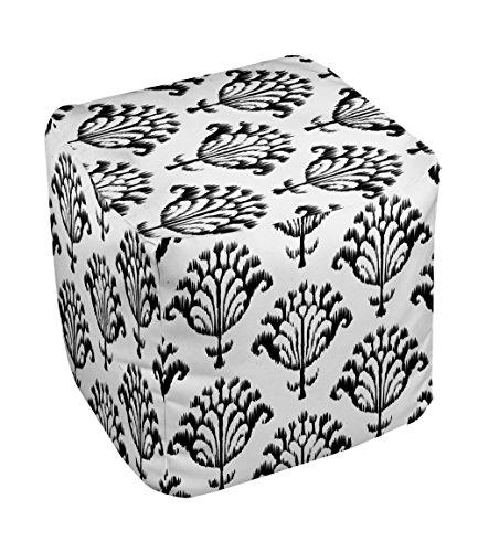 E by design FG-N16-White-18 Geometric Pouf