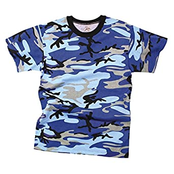 Camouflage T-Shirt, Electric Blue Camo, Small by Rothco