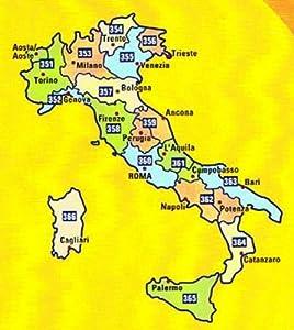 MIchelin Local Road Map 362 : Campania - Basilicata (Italy) scale 1
